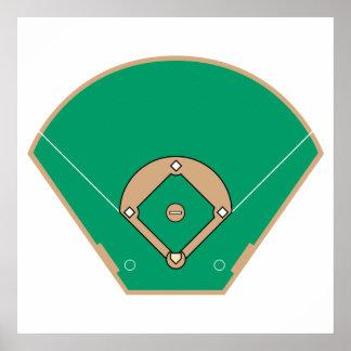 baseball diamond field posters