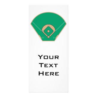 baseball diamond field rack card