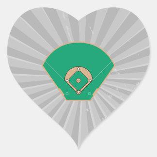 baseball diamond field heart sticker