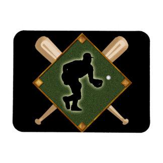 Baseball Diamond Fielding 1 Rectangular Photo Magnet