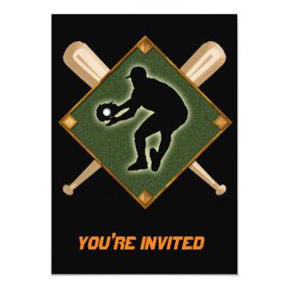 Baseball Diamond Fielding 2 Card
