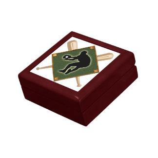 Baseball Diamond Fielding 2 Keepsake Box