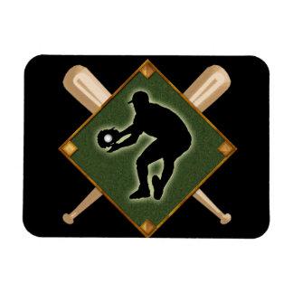 Baseball Diamond Fielding 2 Rectangular Photo Magnet