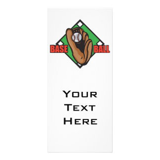 baseball diamond graphic full color rack card