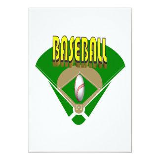 Baseball Diamond 5x7 Paper Invitation Card