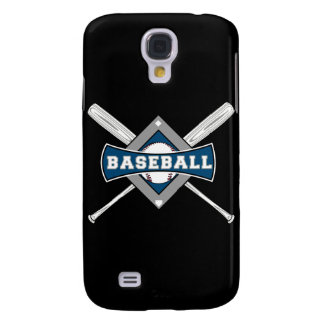baseball diamond logo gray blue white galaxy s4 case