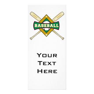 baseball diamond logo personalized rack card