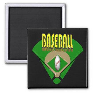 Baseball Diamond Fridge Magnet