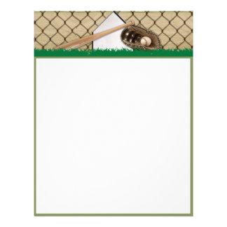Baseball Diamond on Green Field Letterhead