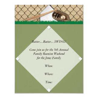 Baseball Diamond Party Invitation