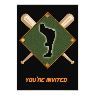 Baseball Diamond Pitching 1 Card