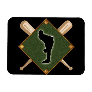 Baseball Diamond Pitching 1 Rectangular Photo Magnet