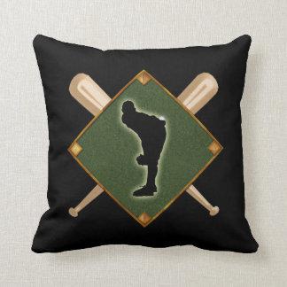 Baseball Diamond Pitching 1 Throw Pillow