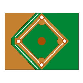 Baseball Diamond Postcard