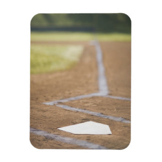 Baseball diamond rectangular photo magnet