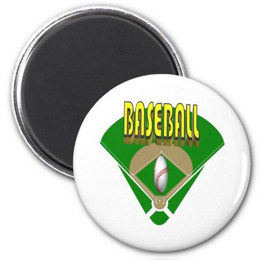 Baseball Diamond Refrigerator Magnets