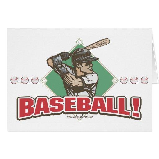 Baseball Diamond Slugger Sports Gear Greeting Card