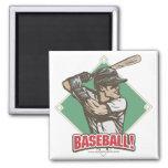 Baseball Diamond Slugger Sports Gear Refrigerator Magnet