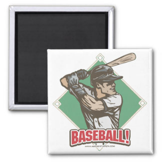 Baseball Diamond Slugger Sports Gear Magnet