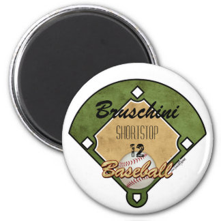 Baseball Diamond Sport 2 Inch Round Magnet