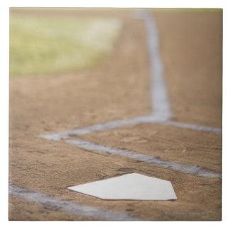 Baseball diamond large square tile