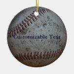 Baseball ***Do not add professional team name Christmas Tree Ornaments