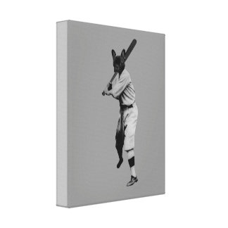 Baseball Dog Canvas Print