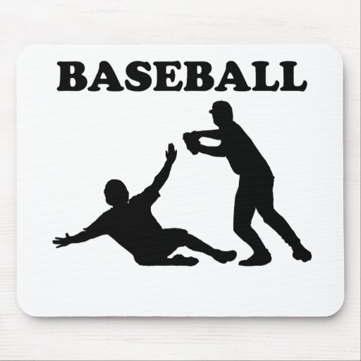 Baseball Double Play Mouse Pad