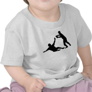 Baseball Double Play Silhouette T-shirts