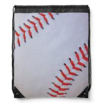baseball draw string bag