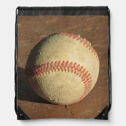 Baseball Drawstring Backpack