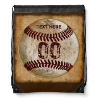 Baseball Drawstring Backpack NAME & JERSEY NUMBER