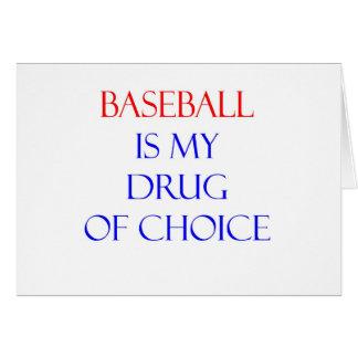 Baseball Drug of Choice Card