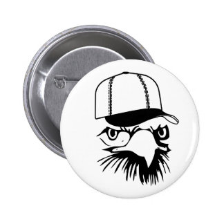 Baseball Eagle Button