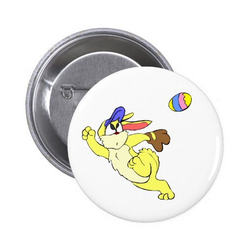Baseball Easter Button