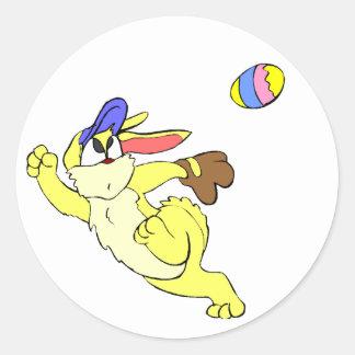 Baseball Easter Classic Round Sticker