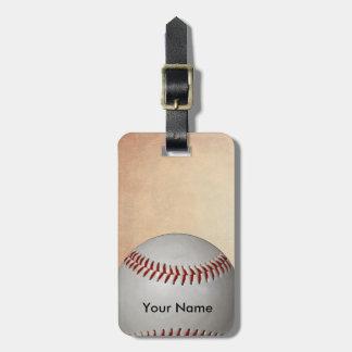 Baseball Embed Custom Name Sport Bag Tag