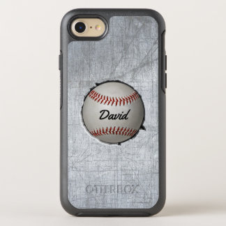 Baseball Embed Sport Theme Cool Metal OtterBox Symmetry iPhone 8/7 Case