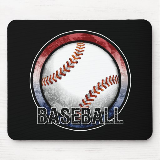 Baseball Emblem USA Mousepad