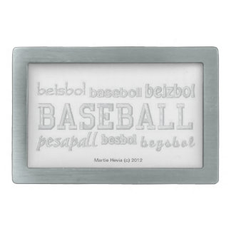 Baseball (Embroidered-Look) Belt Buckle