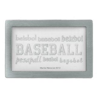 Baseball (Embroidered-Look) Belt Buckle