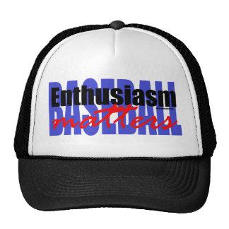 Baseball Enthusiasm Hats