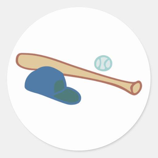 Baseball equipment equipment classic round sticker