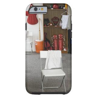 Baseball equipment in locker room tough iPhone 6 case