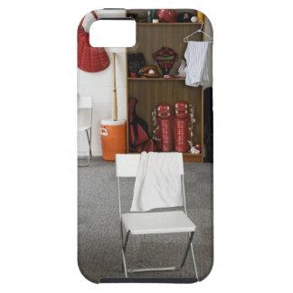Baseball equipment in locker room iPhone SE/5/5s case
