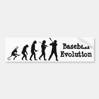 Baseball Evolution - Baseball Bumper Sticker