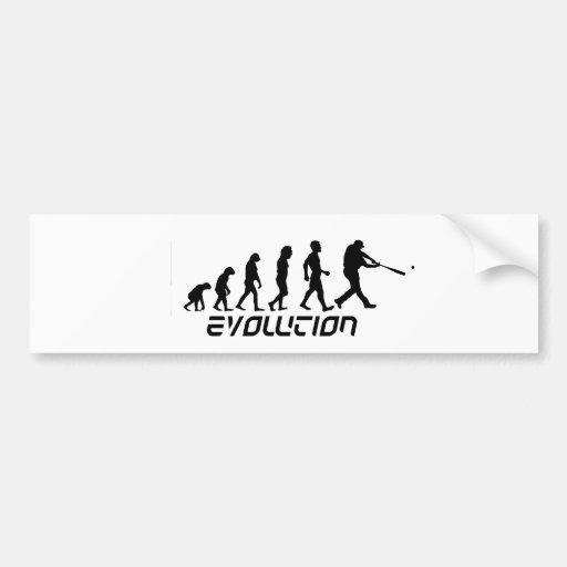 Baseball Evolution Car Bumper Sticker