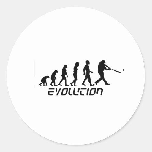 Baseball Evolution Classic Round Sticker