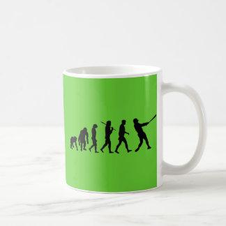 Baseball evolution of Baseball gifts Coffee Mugs