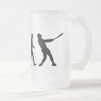 Baseball evolution of Baseball gifts 16 Oz Frosted Glass Beer Mug